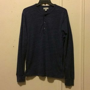 Men's slim long sleeve  knit goods polo J crew Med